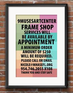 Custom Framing at 9Muses Art Center