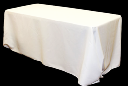 LONG WHITE TABLECLOTH