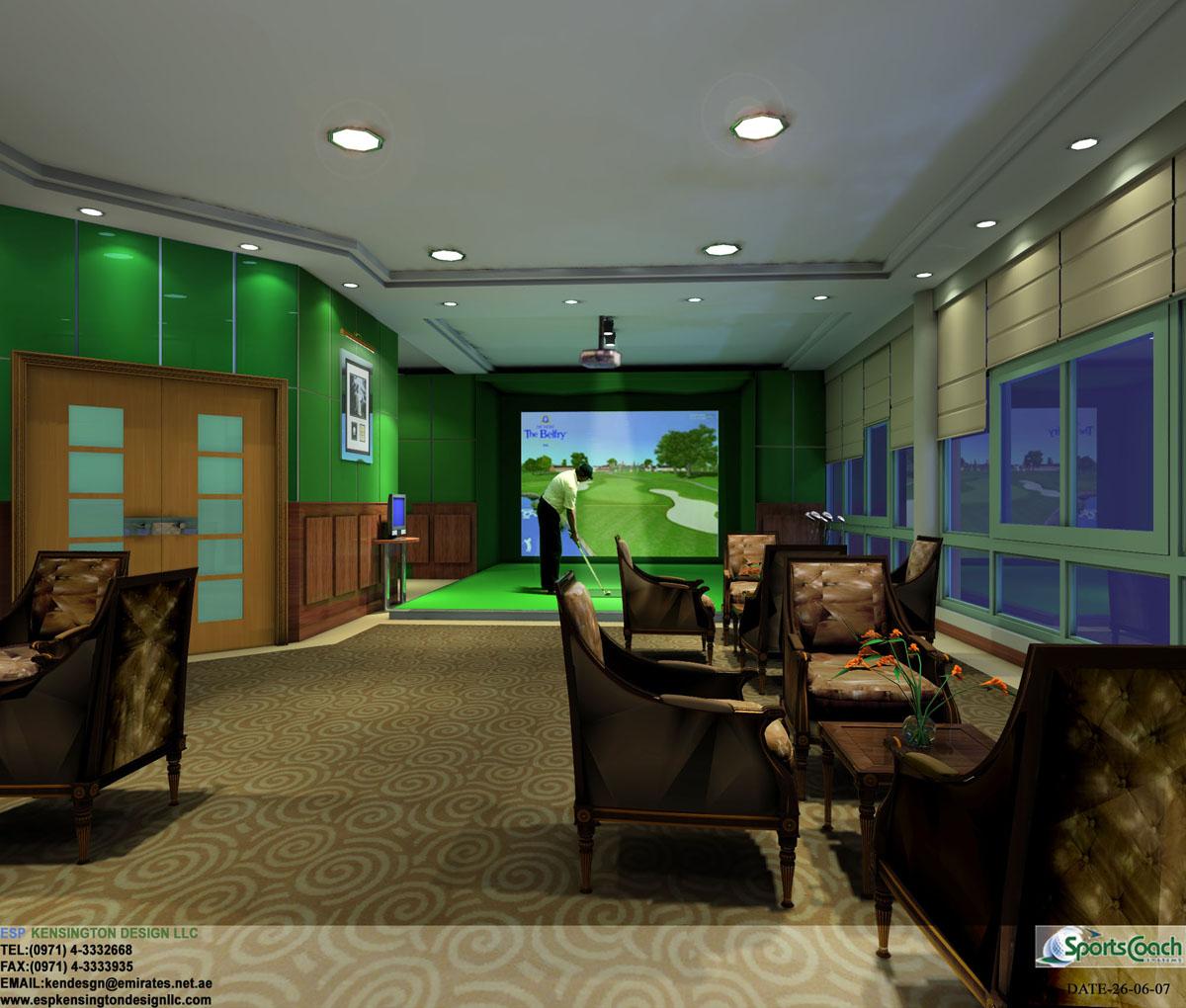 Indoor Golf Design - Golf Simulator, Sports Simulator