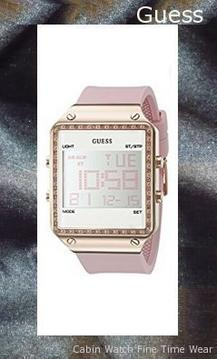 GUESS Women's Digital Silicone Watch, Color: Pink (Model: U0700L2),guess outlet