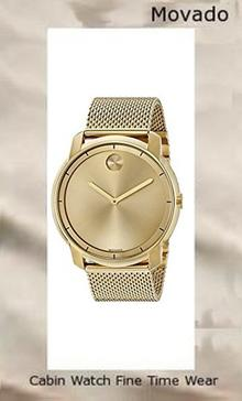 Product specifications Watch Information Brand, Seller, or Collection Name Movado Model number 3600373 Part Number 3600373 Item Shape Round Dial window material type Mineral Display Type Analog Clasp deployant-clasp-with-push-button Case material Gold tone Case diameter 44 millimeters Case Thickness 8 millimeters Band Material Gold-plated stainless steel Band length Men's Standard Band width 22 millimeters Band Color Gold Dial color Gold Bezel material Gold tone Bezel function Stationary Item weight 4.64 Ounces Movement Swiss quartz Water resistant depth 100 Feet