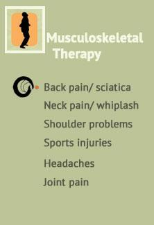 Musculoskeletal therapy - Back pain, Sciatica, Neck pain, Whiplash, Shoulder problems, Headaches & Joint pain