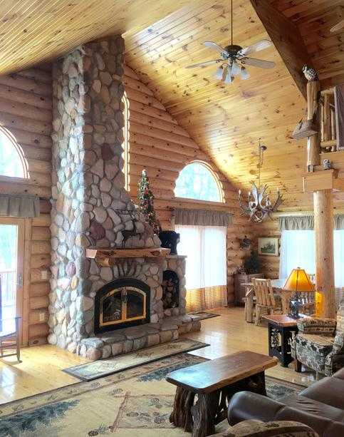 cabins michigan timber featured northern ridge family large vacation cabin home log in rentals