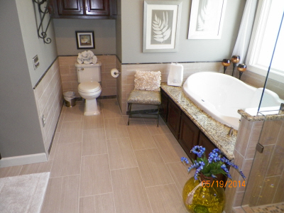 richmond hills lebanon tn master bathroom makeover new design new soaker tub tile walk in shower tile floor double vanity lights and mirrors