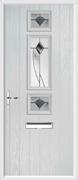 3 Square Strip Composite Door monza glass