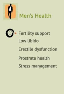 Men's Fertility support, Low libido, Erectile dysfunction, Prostrate health & Stress management