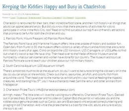 Activities for kids in Charleston