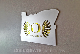 University_of_Oregon_Ducks_O_Wings_Brushed_Aluminum_Wall_Plaques