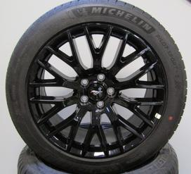 "Ford Mustang Performance Package Black 19"" Staggered wheels and tires. Michelin."