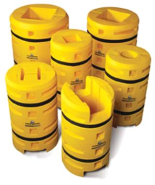 Column protection designed to fit all columns including I-beams and H-shapes
