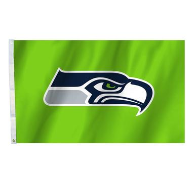 Seattle Seahawks Action Green Flag 3 X 5