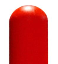 Bright Red Dome Top Bollard Cover