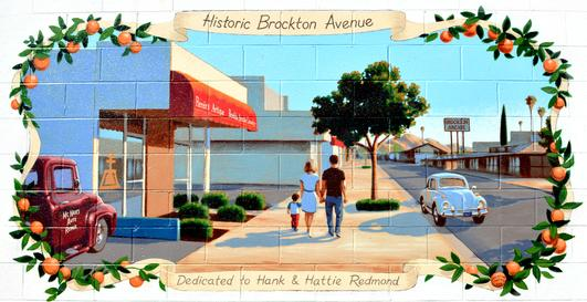 Historic Brockton Avenue Mural at 6773 Brockton Avenue Riverside CA