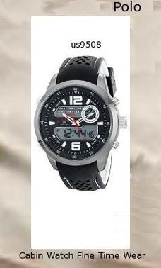Watch Information Brand, Seller, or Collection Name U.S. Polo Assn. Model number US9508 Part Number US9508 Item Shape Round Dial window material type Glass Display Type Analog and digital Clasp Buckle Case material Metal Case diameter 50 millimeters Case Thickness 16 millimeters Band Material Silicone Band length Men's Standard Band width 23 millimeters Band Color Two Tone Dial color Black Bezel material Metal Bezel function Stationary Calendar Day, date, and month Movement Analog quartz