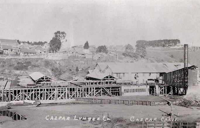 The Caspar Lumber Mill sometime in the late 19th century.