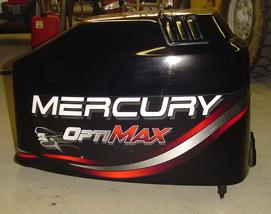 Used top cowling for a 1998 Mercury Optimax 150 hp.