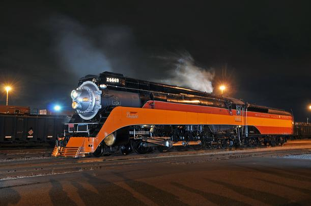 SP GS-4 No. 4449 under steam at Tacoma, Washington, June, 2011. Photo by Drew Jacksich.