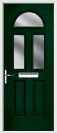 2 Panel 2 Square 1 Arch Composite Door obscure glass