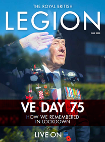 Cover of British Legion Magazine with article about Craig Lawrence Gurkha