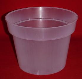 clear plastic orchid pot 6.5 inch round holes UV McConkey