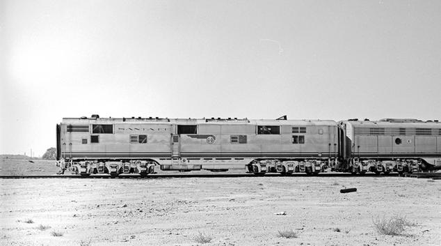 Santa Fe E6-B locomotive No. 15-A at Dallas, Texas, October 10, 1959.