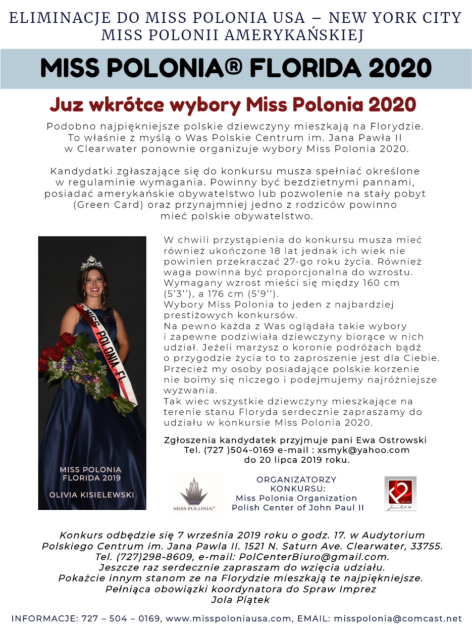 Miss Polonia Florida 2020