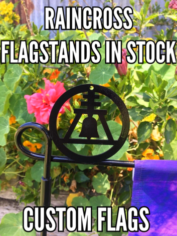 Raincross Flag Stand and Flags made to order
