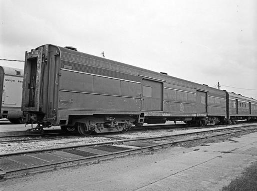 Missouri Pacific Baggage Car No. 352 at San Antonio, Texas, May 1968.