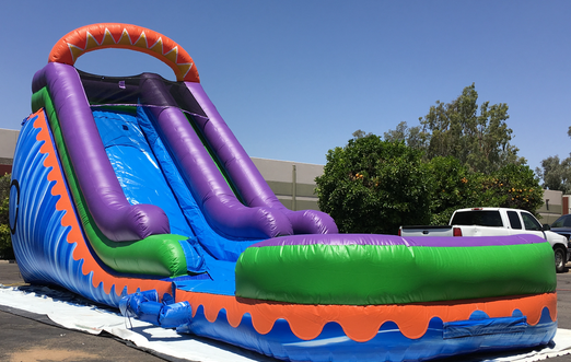 find bold primary colors shades of blue soft pastels and eye popping brights in our large selection of inflatables waterslide rentals in phoenix az