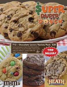 Super Duper Cookie Dough Dough Fundraiser Brochure
