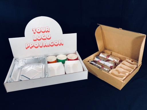 Logo printed catering boxes