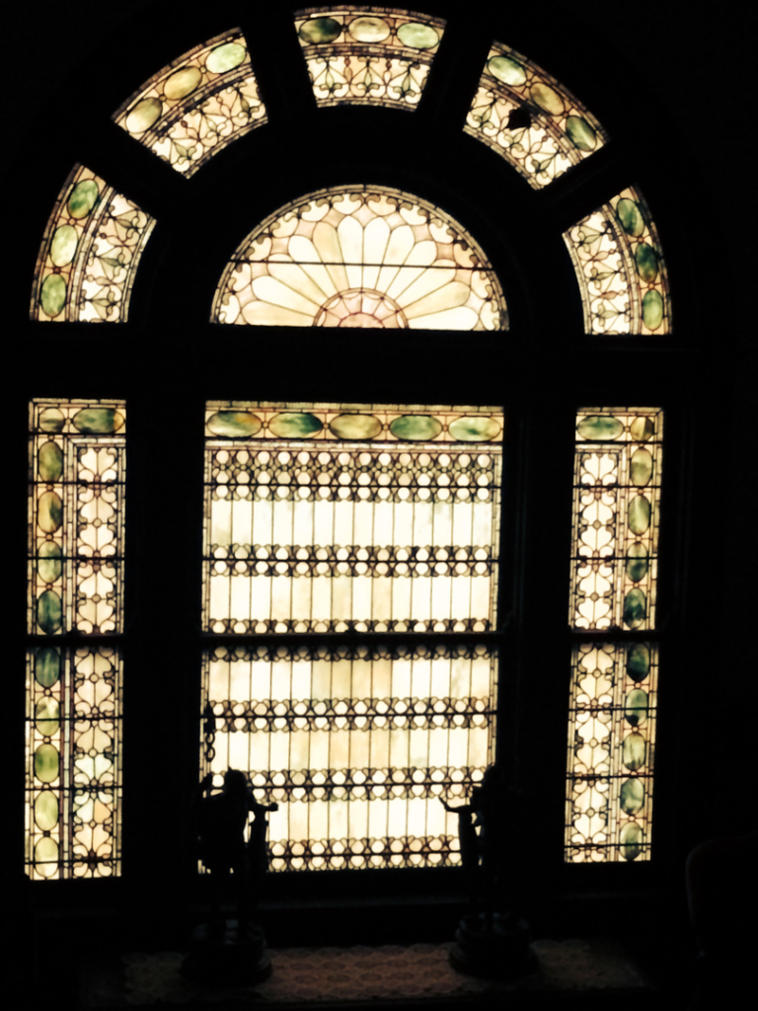 Original Tiffany Stain Glass Window at Rockcliffe Mansion in Hannibal Missouri