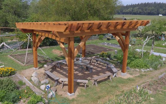 Full, Rough Sawn Western Red Cedar timbers are ideal for outdoor structures such as Pergolas, gazebos and trellises
