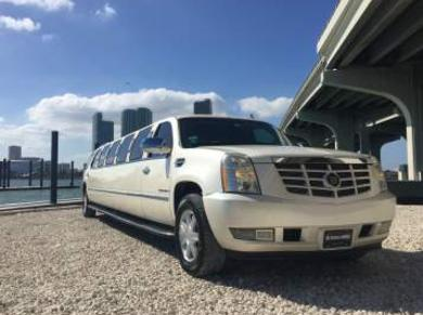 White Escalade Wedding Limo Service