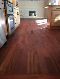 Brazilian Cherry finished with Woca Oil