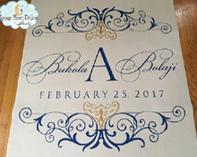 Custom wedding aisle runner