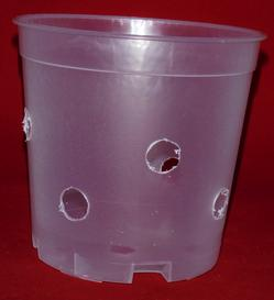 clear plastic orchid pot 5 inch tall slots holes ventilation large extra holes
