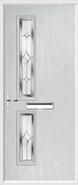 2 Square Composite Door regal sapphire glass