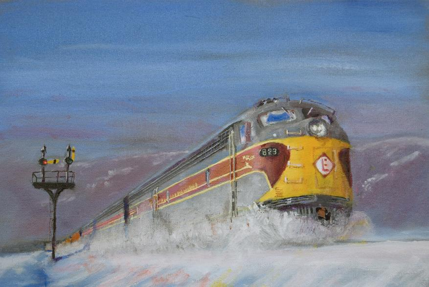 Railroad Train Painting