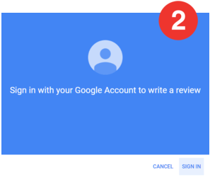 If you're not already logged into Google you'll need to Sign-in.