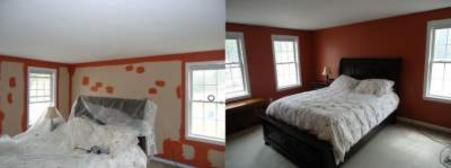 master bedroom painting in North Attleboro, MA.