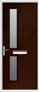 2 Square Composite Door obscure glass