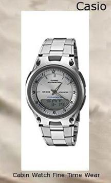 Product specifications Watch Information Brand, Seller, or Collection Name Casio Model number AW80D-7AV Part Number AW80D-7AV Model Year 2014 Item Shape Round Dial window material type Mineral Display Type Analog and digital Clasp Fold-over-clasp Case material Stainless steel Case diameter 39.5 millimeters Case Thickness 12 millimeters Band Material Stainless steel Band length mens Band width 24 millimeters Band Color Silver Dial color Silver Bezel material Stainless steel Bezel function Stationary Calendar Day, date, and month Special features alarm-feature, Water Resistant Movement Quartz Water resistant depth 165 Feet,casio oceanus