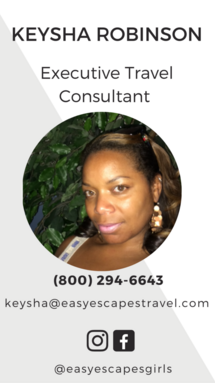 Easy Escapes Travel Executive Travel Consultant - Keysha Robinson