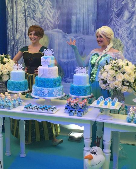 Yaya Toure Frozen Party with Elsa and Anna Children's Entertainers