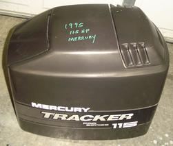Used top cowl for a 1995 Mercury Tracker 115 hp. OEM # 4026-828354A13, 822361a19, 822361a10