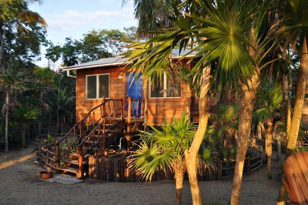 The Bamboo Bungalow at Leaning Palm Resort in Belize.