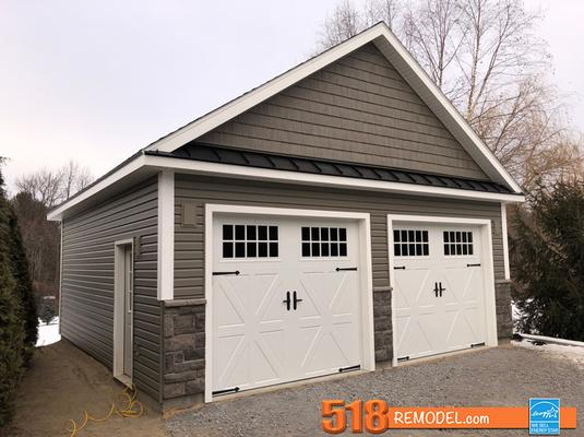 custom two car garage