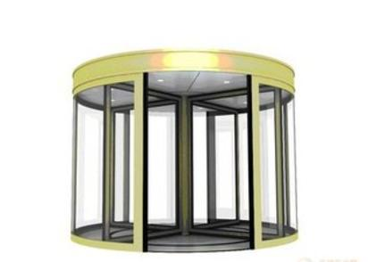 automatic revolving glass door systems