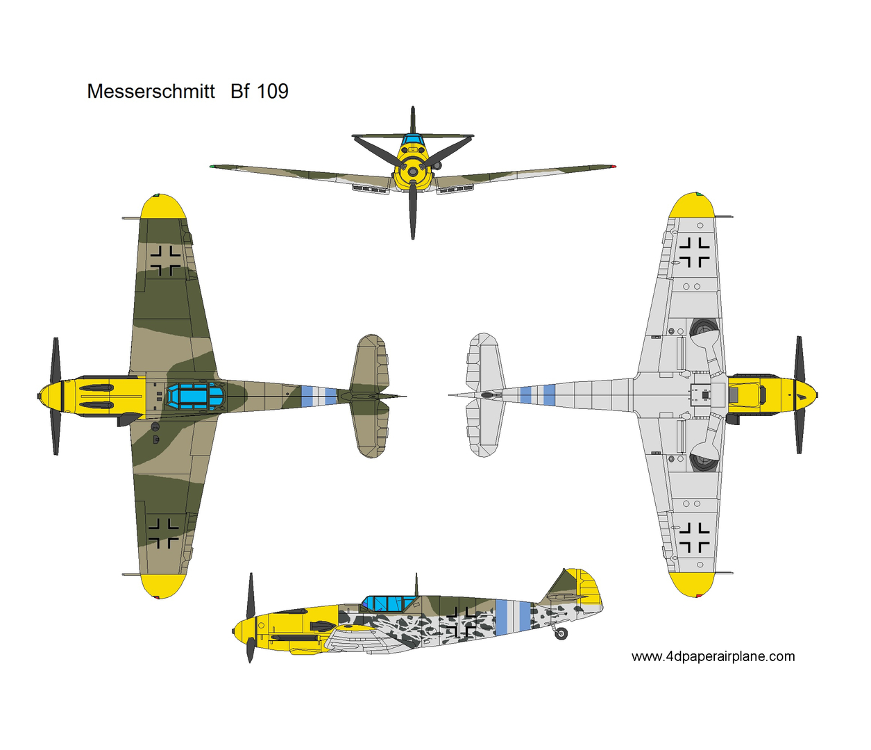 4D paper airplane - Model Template, Model Template, Warbird, Airplane